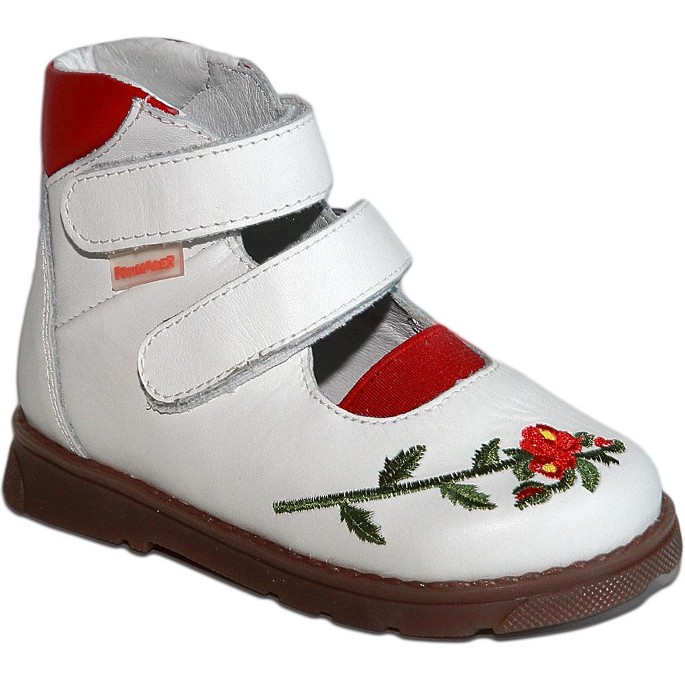 Мальвина белый красный - Футмастер - Детская ортопедическая обувь